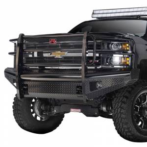 Fab Fours CH05-S1360-1 Black Steel Front Bumper with Grille Guard for Chevy Silverado 2500HD/3500 2003-2006