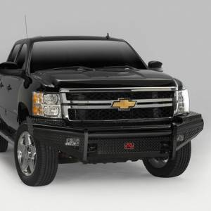 Fab Fours - Fab Fours CH05-S1361-1 Black Steel Front Bumper for Chevy Silverado 2500HD/3500 2003-2006 - Image 2