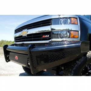 Fab Fours - Fab Fours CH05-S1361-1 Black Steel Front Bumper for Chevy Silverado 2500HD/3500 2003-2006 - Image 4