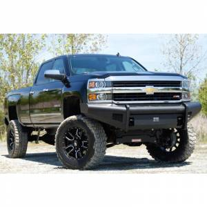 Fab Fours - Fab Fours CH05-Q1361-1 Black Steel Elite Smooth Front Bumper for Chevy Silverado 2500/3500 2003-2006 - Image 4