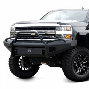Fab Fours - Fab Fours CH05-Q1362-1 Black Steel Elite Smooth Front Bumper with Pre-Runner Guard for Chevy Silverado 2500/3500 2003-2006 - Image 2