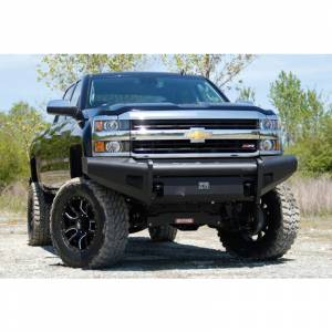 Fab Fours - Fab Fours CH08-Q2061-1 Black Steel Elite Smooth Front Bumper for Chevy Silverado 2500HD/3500 2007-2010 - Image 2