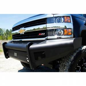 Fab Fours - Fab Fours CH08-Q2061-1 Black Steel Elite Smooth Front Bumper for Chevy Silverado 2500HD/3500 2007-2010 - Image 5