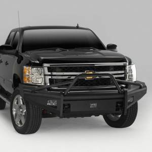 Fab Fours - Fab Fours CH08-Q2062-1 Black Steel Elite Smooth Front Bumper with Pre-Runner Guard for Chevy Silverado 2500/3500 2007-2010 - Image 2