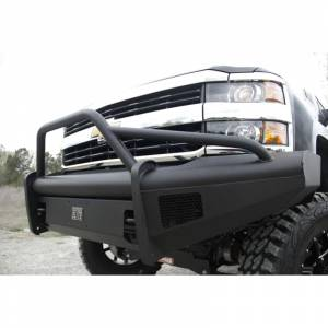 Fab Fours - Fab Fours CH08-Q2062-1 Black Steel Elite Smooth Front Bumper with Pre-Runner Guard for Chevy Silverado 2500/3500 2007-2010 - Image 5