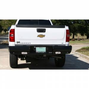 Fab Fours Black Steel - Rear Bumpers - Fab Fours - Fab Fours CH11-T2150-1 Black Steel Rear Bumper for Chevy Silverado 2500/3500 2011-2014