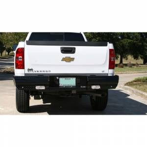 Fab Fours Black Steel - Rear Bumpers - Fab Fours - Fab Fours CH11-T2150-1 Black Steel Rear Bumper for GMC Sierra 2500/3500 2011-2014