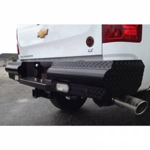 Fab Fours - Fab Fours CH99-T1250-1 Black Steel Rear Bumper for Chevy Silverado 2500HD/3500 1999-2007 - Image 3