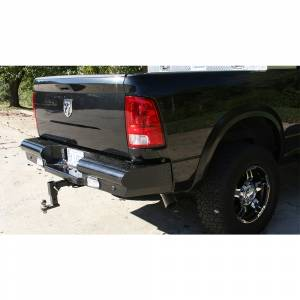 Fab Fours - Fab Fours DR10-T2950-1 Black Steel Rear Bumper for Dodge Ram 2500/3500 2010-2018 - Image 2