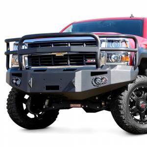 Fab Fours - Fab Fours CH14-C3050-1 Premium Winch Front Bumper with Grille Guard for Chevy Silverado 2500HD/3500 2015-2019 - Image 2