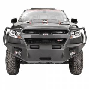 Shop Bumpers By Vehicle - Chevy Colorado - Fab Fours - Fab Fours CC15-H3350-1 Premium Winch Front Bumper with Grille Guard for Chevy Colorado 2015-2019