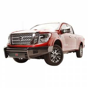 Fab Fours - Fab Fours NT16-K3761-1 Black Steel Front Bumper for Nissan Titan XD 2016-2019