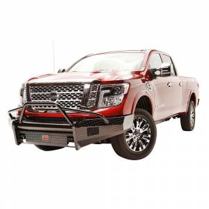 Fab Fours - Fab Fours NT16-K3762-1 Black Steel Front Bumper with Pre-Runner Guard for Nissan Titan XD 2016-2019