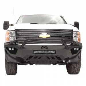 Fab Fours - Fab Fours CH11-V2752-1 Vengeance Front Bumper with Pre-Runner Guard for Chevy Silverado 2500/3500 2011-2014