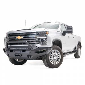 Fab Fours - Fab Fours CH15-X2752-1 Matrix Front Bumper with Pre-Runner Guard for Chevy Silverado 2500 HD/3500 HD 2015-2019 - Image 2