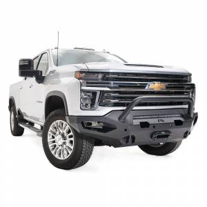Fab Fours - Fab Fours CH15-X2752-1 Matrix Front Bumper with Pre-Runner Guard for Chevy Silverado 2500 HD/3500 HD 2015-2019 - Image 3
