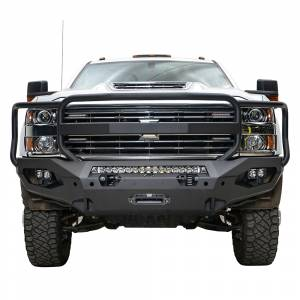Fab Fours - Fab Fours CH15-X2750-1 Matrix Front Bumper with Grille Guard for Chevy Silverado 2500 HD/3500 HD 2015-2019 - Image 2