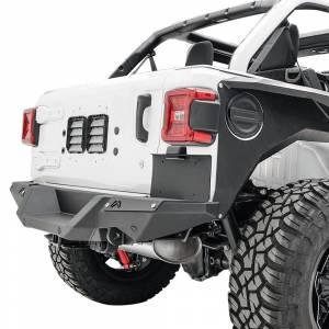 Exterior Accessories - License Plate Bracket - Fab Fours - Fab Fours M4550-1 Rear Bumper License Plate Bracket for Jeep Wrangler JL 2018-2020