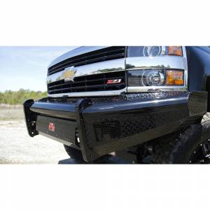 Fab Fours - Fab Fours CH20-S4961-1 Black Steel Front Bumper for Chevy Silverado 2500/3500 2020-2021
