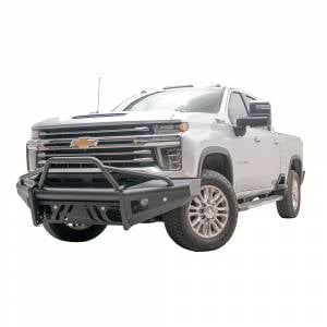 Fab Fours - Fab Fours CH20-Q4961-1 Black Steel Elite Smooth Front Bumper for Chevy Silverado 2500/3500 2020-2021