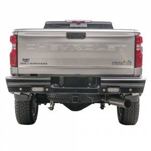 Fab Fours Black Steel - Rear Bumpers - Fab Fours - Fab Fours CH20-T4950-1 Black Steel Rear Bumper for GMC Sierra 2500/3500 2020-2021