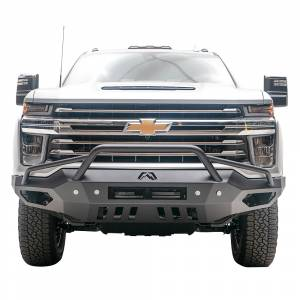 Fab Fours Front Bumper with Full Grille Guard - Chevy - Fab Fours - Fab Fours CH20-V4952-1 Vengeance Front Bumper with Pre-Runner Guard for Chevy Silverado 2500HD/3500 2020-2021