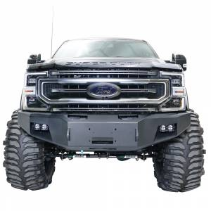 Fab Fours Front Bumper with No Grille Guard - Ford - Fab Fours - Fab Fours FS17-A4161-1 Winch Front Bumper for Ford F250/F350 2017-2020