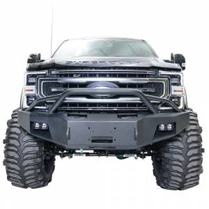 Fab Fours - Fab Fours FS17-A4162-1 Winch Front Bumper with Pre-Runner Guard for Ford F250/F350 2017-2021