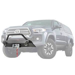 Bumpers by Style - Winch Mount | Hidden Winch Bumpers - Warn - Warn 100044 Semi Hidden Winch Mount Bumper Toyota Tacoma 2016-2020