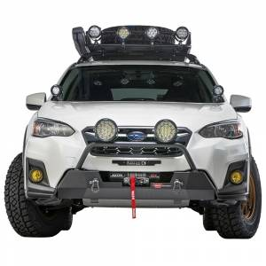 Bumpers by Style - Winch Mount | Hidden Winch Bumpers - Warn - Warn 106221 Semi Hidden Winch Mount Bumper Subaru Crosstek 2018-2020