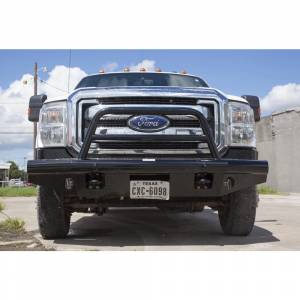 Tough Country AFR0500FLSMBW Apache Winch Front Bumper with Bull Bar for Ford F250/F350/F450/F550 2005-2007