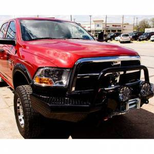 Tough Country AFR1155DLSMB Apache Front Bumper with Bull Bar for Dodge Ram 4500/5500 2010-2018