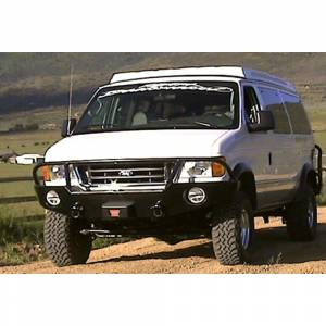 Aluminess - Aluminess 210001 Front Bumper with Brush Guard for Ford Econoline Van 1992-2007 - Image 6