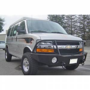 Aluminess - Aluminess 210044 Front Bumper with Brush Guard for Chevy Express Van 2003-2018 - Image 5