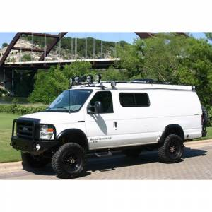 Aluminess - Aluminess 210048 Front Bumper with Brush Guard for Ford Econoline Van 2008-2014 - Image 2