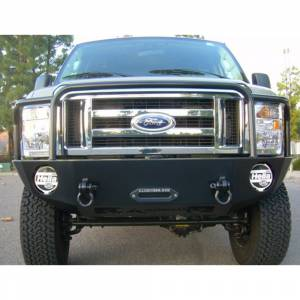 Aluminess - Aluminess 210048 Front Bumper with Brush Guard for Ford Econoline Van 2008-2014 - Image 5