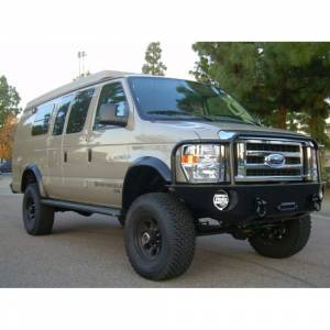 Aluminess - Aluminess 210048 Front Bumper with Brush Guard for Ford Econoline Van 2008-2014 - Image 10
