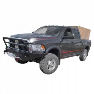 Aluminess - Aluminess 210146 Front Bumper without Guard for Dodge Power Wagon 2010-2018