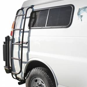 Aluminess - Aluminess 210162 Passenger Side Ladder for Chevy Express Van 2003-2020 - Image 1