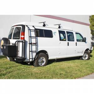 Aluminess - Aluminess 210162 Passenger Side Ladder for Chevy Express Van 2003-2020 - Image 3