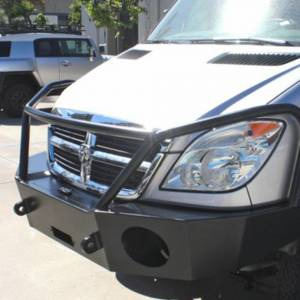 Aluminess - Aluminess 210166 Winch Front Bumper with Brush Guard Winch Ready for Mercedes Sprinter 2007-2013 - Image 3