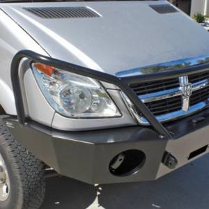 Aluminess - Aluminess 210166 Winch Front Bumper with Brush Guard Winch Ready for Mercedes Sprinter 2007-2013 - Image 5