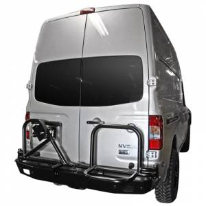 Van Bumpers - Nissan NV - Aluminess - Aluminess 210245 Rear Bumper with Swing Arm for Nissan NV 2011-2018
