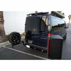 Aluminess - Aluminess 210288 Rear Bumper with Hitch and Swing Arm - Single Rear Wheel for Mercedes Sprinter 2007-2018 - Image 3