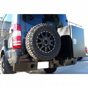 Aluminess - Aluminess 210288 Rear Bumper with Hitch and Swing Arm - Single Rear Wheel for Mercedes Sprinter 2007-2018 - Image 5