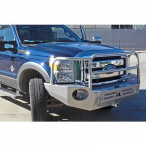 Aluminess - Aluminess 210301 Slimline Front Bumper with Bull Bar for Ford F250/F350 2011-2016