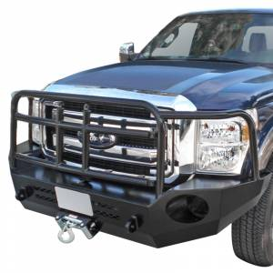Aluminess - Aluminess 210301 Slimline Front Bumper with Bull Bar for Ford F250/F350 2011-2016 - Image 3
