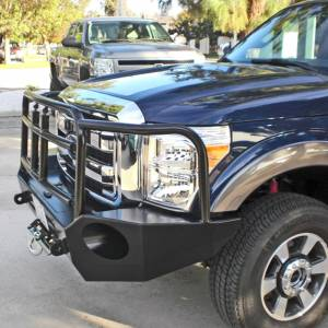 Aluminess - Aluminess 210301 Slimline Front Bumper with Bull Bar for Ford F250/F350 2011-2016 - Image 5