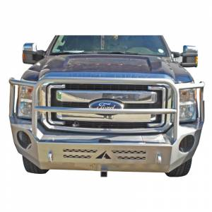 Aluminess - Aluminess 210301 Slimline Front Bumper with Bull Bar for Ford F250/F350 2011-2016 - Image 6