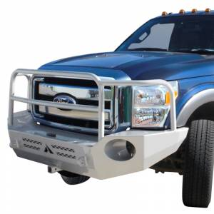 Aluminess - Aluminess 210318 Front Bumper with Brush Guard for Ford F250/F350/F450/F550 2017-2020